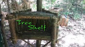 Patricksbushcraft Primitive Wood Skills Tree Shelf Organizer Technology House Bushcraft
