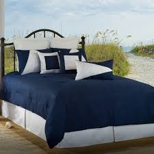 Victor Mill Latitude 11 Navy Blue White Twin forter Set