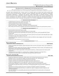 Pharma S Rep Resume Representative Example Examples Sample Pdf Inside Large Size