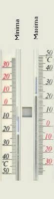 thermometre maxima minima exterieur thermomètre à minima et maxima