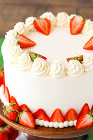 Strawberries and Cream Cheesecake Cake strawberry cake vanilla cheesecake and cream cheese whipped cream