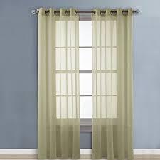 amazon com nicetown sheer curtain window panels light filtering