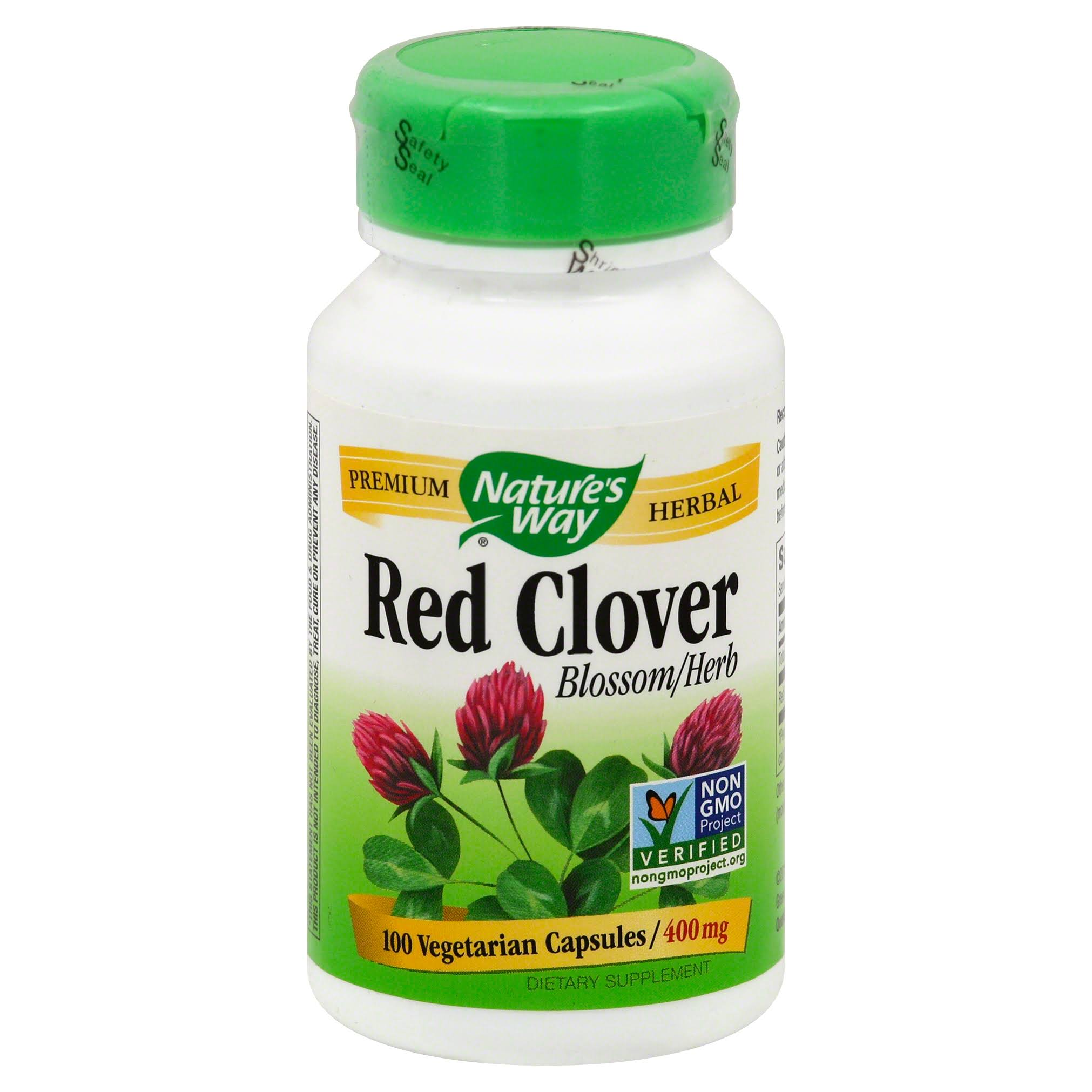 Nature's Way Red Clover Blossom And Herb - 100 Capsules, 400mg