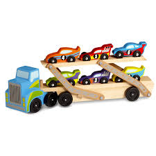 100 Toy Car Carrier Truck Mega Race Rier Melissa Doug Wooden Toy Wood