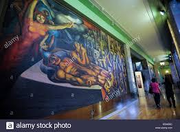 david alfaro siqueiros painting in the bellas artes museum mexico