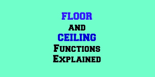 excel floor function and ceiling function explained excel by joe