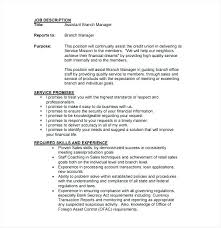 Assistant Bank Manager Resume Branch Sample Retail