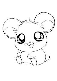 Cute Hamsters Sleeping Hamtaro Coloring Page