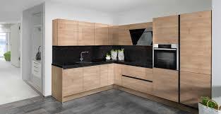 grifflose l küche mit elektrogeräten neff und naturstein