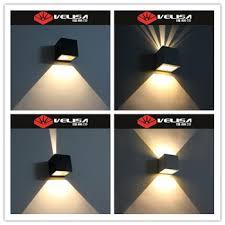 velisa square outdoor led up wall light die cast aluminium