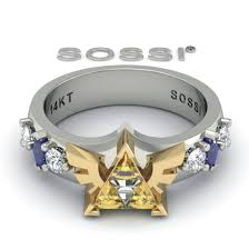 Zelda Triforce Lamp Uk by Buy A Custom Best Triforce Legend Of Zelda Zoras Engagement Ring