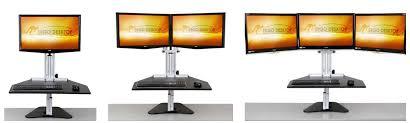 Kangaroo Standing Desk Dual Monitor by Review Best Standing Desk Risers Stephanie Gilbert Pulse