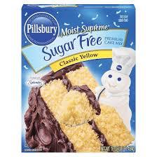 Pillsbury Sugar Free Classic Yellow Cake Mix 16oz Tar