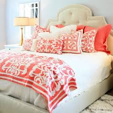 Coral Colored Decorative Accents by Best 25 Coral Bedding Ideas On Pinterest Coral Bedroom Coral