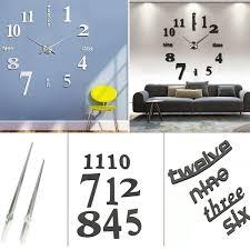 3d design wand uhr wohnzimmer wanduhr spiegel wandtattoo deko wish