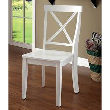 Shop Laine Country White X-back Dining Chair (Set Of 2) By FOA - On ... White Ding Chair Swedish Nordic House Shop Wooden With Slatted Back Set Of Two On Better Homes And Gardens Collin Distressed Amazoncom Target Marketing Systems 2 Tiffany Chairs Detail Feedback Questions About Giantex 4 Pvc Homesullivan Rosemont Antique Wood Intertional Fniture Direct Room With Solid Wood Upholstered Button Tufted Leatherette Of Grace Rain Pier 1 Creme