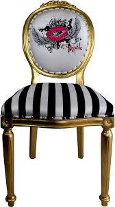 pompöös by casa padrino luxus barock esszimmer stuhl schwarz weiß streifen gold pink pompööser barock stuhl designed by harald glööckler
