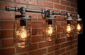 jar lights industrial light edison bulb rustic light