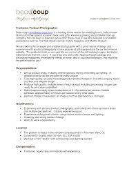 Resume For A Photographer Freelance Photography Samples Template Sample