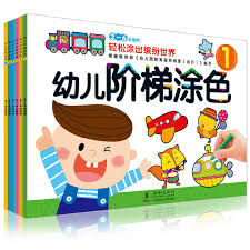 6pcs Set Picture Coloring Book For Baby 3 6 Years Old