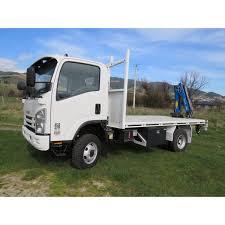 100 4x2 Truck Duravault Flat Deck And Quicklift Crane On Truck Waimea