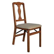 amazon com stakmore queen anne wood folding chairs with