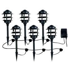 Malibu Outdoor Lighting Kits Led Low Voltage Black Flood Light