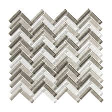 Jeffrey Court Mosaic Tile by Jeffrey Court Pleasantville 11 25 In X 11 375 In X 8 Mm Glass