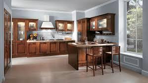 vintage italian kitchen design light gray paint brown wooden