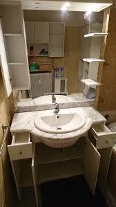 badezimmer waschtisch marmorplatte komplet