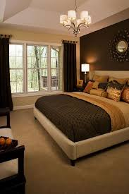 He Likes Warm Accent Wall With Light Very Pretty Yet Simple Color Combo Love The Dark Behind Bed