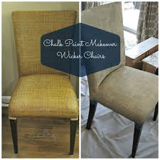 Chalk Paint Makeover Wicker Chairs Loveland Lodge