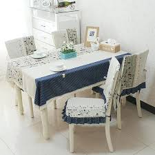 Dining Table Chairs Covers Fluid Fabric Home Cloth Chair Tablecloth Customize
