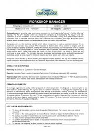 Modern Automobile Workshop Manager Resume Sample
