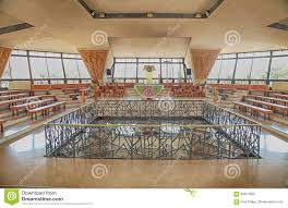 100 Modern Church Interior Design Of The In Capernaum Israel Editorial