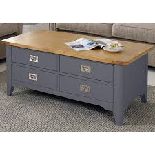 Rebecca Srl Coffee Table Table 4 Drawers White Wood Japanese Design