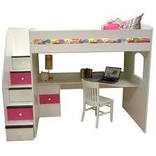 girls loft bed with desk tips woodworking plans popular loft bed