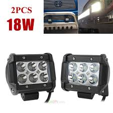 2x 4inch 1800lm 18WCree Led Light Bar Work Spot/Flood Lamp Offroad ... Best Led Spotlights For Trucks Amazoncom Truck Lite Led Spot Light With Ingrated Mount 81711 Trucklite Rigid Industries D2 Pro Flush Mount Lights 1513 Senzeal 5d 90w 9000lm Cree Chip Flood Beam Offroad Work Great Whites Lights 4wds Cars 2x 4inch 1800lm 18wcree Led Bar Spotflood Lamp Green Hunting Fishing 10 Inch High Power For Vehicles 18w Cree Pod Fog Jeep Off Trucklitesignalstat 4x6 In 1 Bulb 1450 Lumen Black Rectangular 4 Inch 27w Round Amber Ligh 1030v Rund 35w Driving 3 Road Bars Trucks Offroad Sale