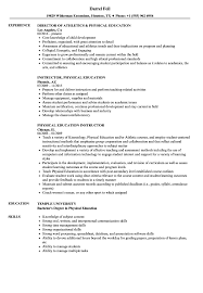 Download Physical Education Resume Sample As Image File