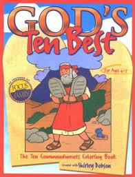 Gods Ten Best The Commandments Coloring Book