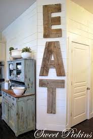 Decorating A Blank Wall DIY Wooden Eat Sign