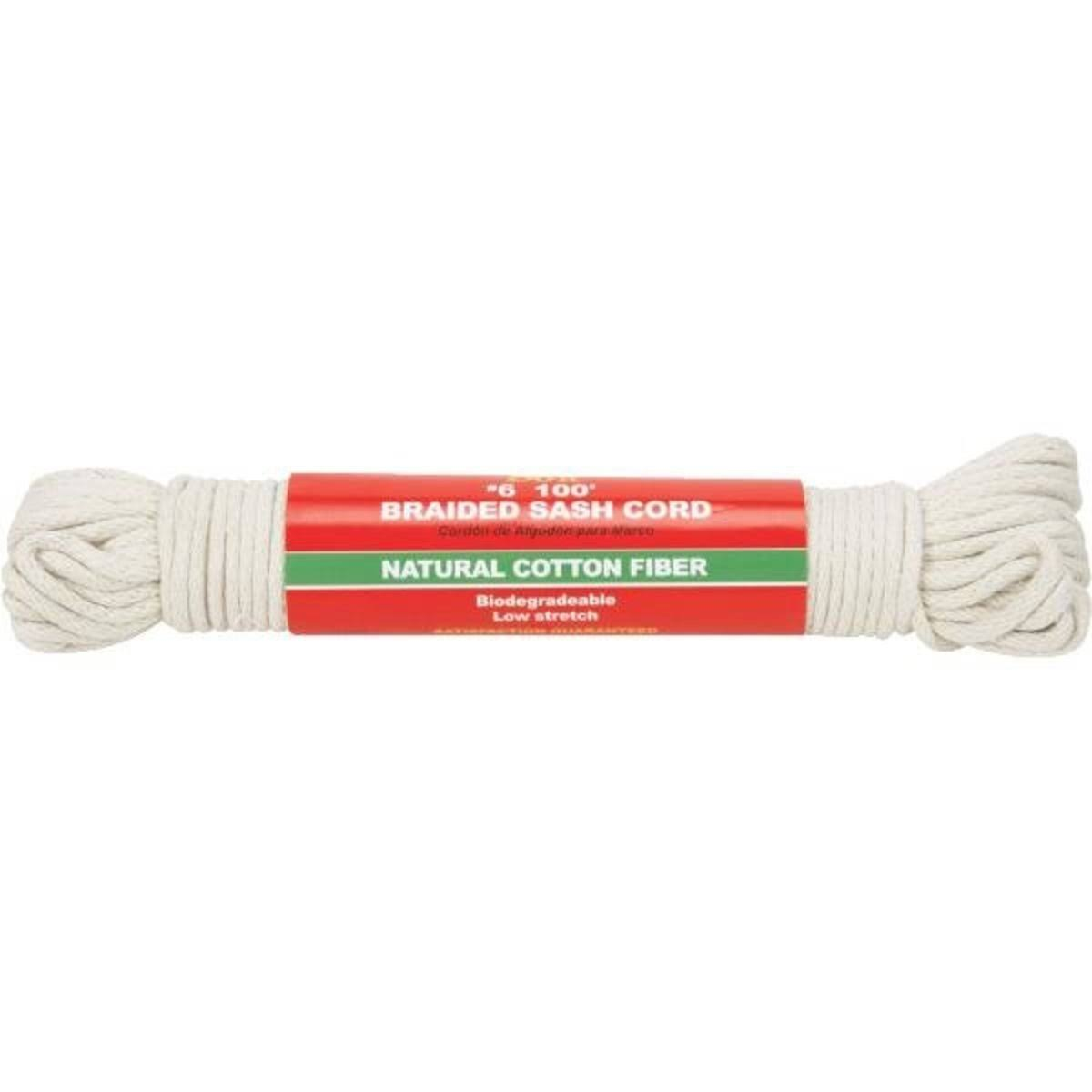 Do It Solid Braided Cotton Sash Cord - Size 6, 100'