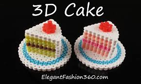 Hama Perler Beads Cake 3D How to Tutorial by Elegant Fashion 360