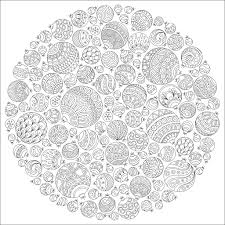 Christmas Ball Ornaments Coloring Page Different Patterns And Sizes