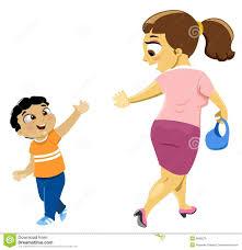 Kids Saying Goodbye Clipart