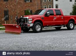 100 How To Plow Snow With A Truck Ford Pickup Truck With Snow Plow Attachment Stock Photo