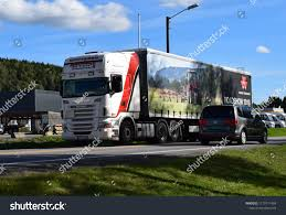 100 Roadshow Trucking White Scania Super Truck Massey Ferguson Stock Photo Edit Now