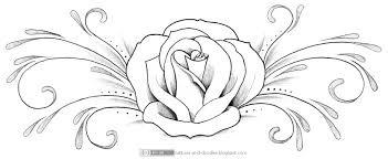 Swirls Grey Rose And Banner Tattoo Designs In 2017 Real Photo