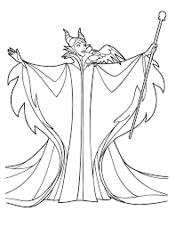 Disney Villains Coloring Pages Maleficent 8