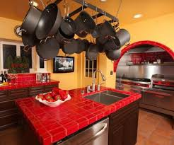 Image Of Red Kitchen Decorating Ideas